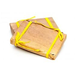 Пуэр Шу плитка в бамбуковых листьях, 9-летний, 250 гр.